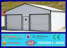 outdoor metal roof steel portable garage canopy for two car parking