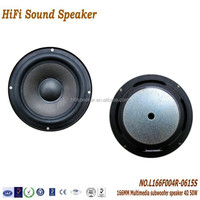 6.5 inch 166mm 4ohm 50W High quality 2.1 Multimedia Speaker Parts and Accessories