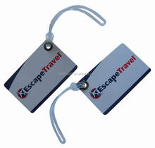 Hard PVC printed Luggage Tags for airline/travel