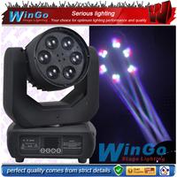 Night Club Disco Lighting 6pcs*30w Quad 4 in 1 RGBW led Beam Spot Bee Eye Led Moving Head