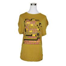 Wholesale LQ41WC03049 Custom Women Polo T-shirt Latest Designs Beaded Print T Shirt