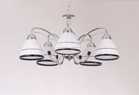 indoor pendant lights white/black european iron ceiling lamp modern