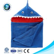 2015 Various cheap cute blue shark kids hooded bath towel fashion custom soft 100% cotton bath towel brands