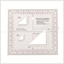 KMP-2 military triangle scale Protractor for pinpoint mapwork