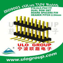 1.27*2.54mm pitch Dual Row SMT (Surface Mount Perpendicular) Pin Header factory