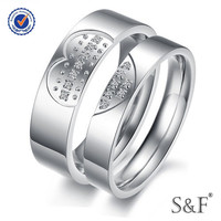 r2014294 Vintage 925 sterling silver king and queen couple ring
