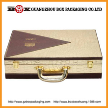 3 bottles high quality feather wine case/box with accessories