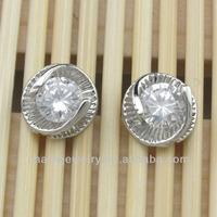 Hot sale jewelry crystal bead stud earrings cheap cute ear stud EST-047