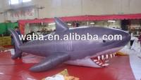 Giant inflatable holiday shark cartoon character model