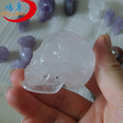 rock clear white quartz crystal skull carving for sale