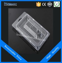 clamshell card packaging , clear plastic blister packing , plastic compartment tray with lid