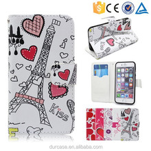 for samsung galaxy s6 edge flip wallet case with card slot ID book wallet flip cover