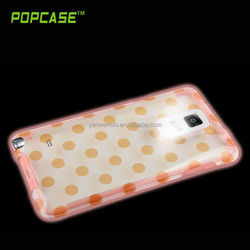 Crystal case with Glow in the dark silicone note 4 bumper