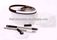 100% New PP strech plastic magic mop with Stainless steel basket/spinning mop FIT961-1