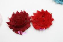 solid shabby chiffon flower trim,flower girl shabby chic dress decoration,hair accessories for women