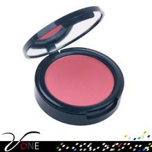 Top quality single color natural blush box,portable makeup palette