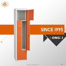 Electrostatic Powder coating finish Z Shape 2 compartment steel locker