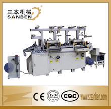 2- station (SBM-240) servo integrated automatic roll label sticker die cutting machine with hot stamping, tape foil cutter