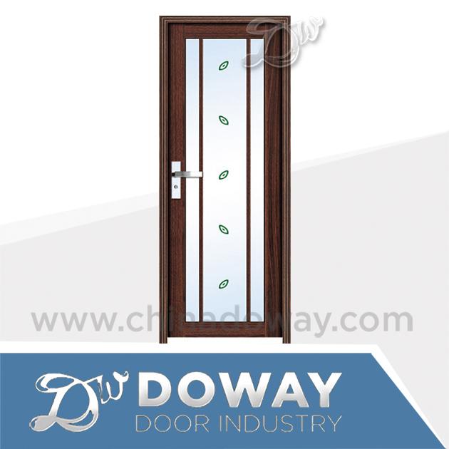 Decorate Glass Door Aluminium Bathroom Door Design