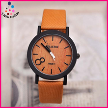 Fashion watch Vintage wood grain surface scale wrist watch