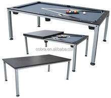 Solid wood billiard table, 2 in 1 dinner table
