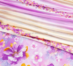 2015 nice pattern 100% polyester microfiber fabric for 3d bedding set