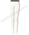 las mujeres de moda suave pantalones de cuero blanco