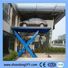3 tons mid rise car scissor lift for sale from China/Chinese newest hydraulic cylinder car scissor lift