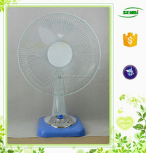 Factory supplier rechargeable battery charger good cooling fan 16''electric 12v table fan