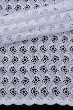 high quality lace fabric material white