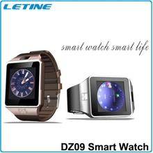 Cheap dz09 smart watch bluetooth phone with camera support MP3/MP4 sim card ce fcc rohs bqb