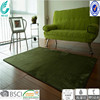 green fashionable 100% polyester waterproof carpet rug