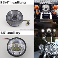 China supplier 4x4 Led light 5 3/4 40w Round headlights 5.75inch Headlights for mortorcycle