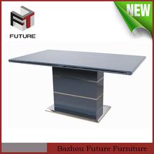 grigio lucido base in acciaio inox tavolo da pranzo