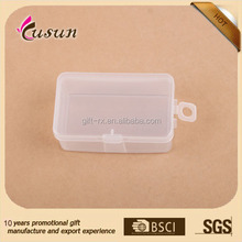 lovely small clear square plastic storage box with hinged lid