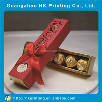 Manufacturer chocolate paper/plastic box packaging for gift