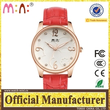 genuine leather ladies wrist hand watch geneva watch battery in wrist watches