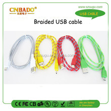 Hot sale usb laptop self charger cable v8 usb cable awm