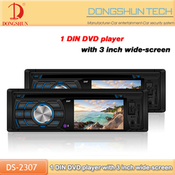 single din car dvd player for universal with CD MP3 AUX FM USB SD function