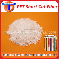 short cut polyester low melt fiber, 1.5DX6mm PP/PE short cut fiber, bicomponent low melt fiber