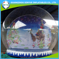 Large outdoor advertising inflatable christmas snow globe