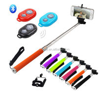 selfie stick Monopod+Clip Holder+Camera Wireless Bluetooth Remote Control Handheld for iPhone Android Phone