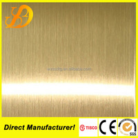 316 rose gold hairline finish stainless steel sheet