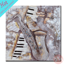 Pure Handmade Musical Instrument Oil Paintings on Canvas