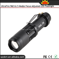 UltraFire Rechargeable Power Style Flashlight 960 Lm 5 Modes Strong Light Flashlight