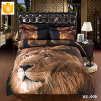 Wholesale bedding set Bed sheet king of the Beasts Gorgeous Lion 3D animal print bedding set