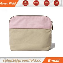 Cosmetic bags 2015, canvas zipper cosmetic bag promotion