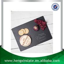 Best Quality Handmade Cheap Natural Edge 35*25*0.5cm Rectangular Black Customized Laser Engrave Dark Black Cheese Board