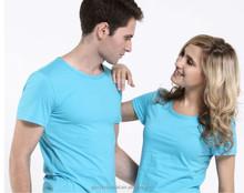 custom plain no brand couple t-shirt