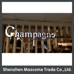 size, light color, shape all are customized 12V LED strip lighted up alphabet letters LED sign price boards for shops